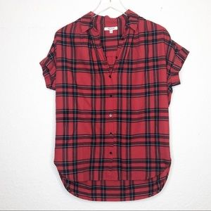 Madewell | Red Striped Courier Button Down Shirt